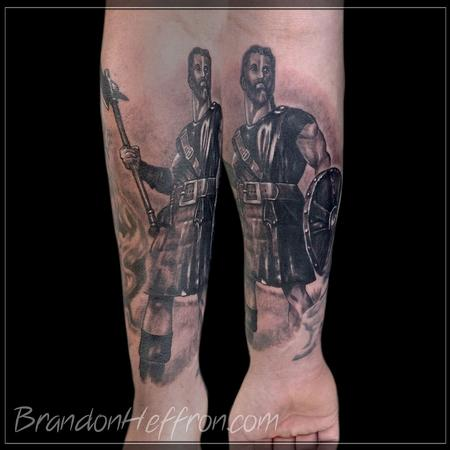 Tattoos - William Wallace black and gray piece - 78586