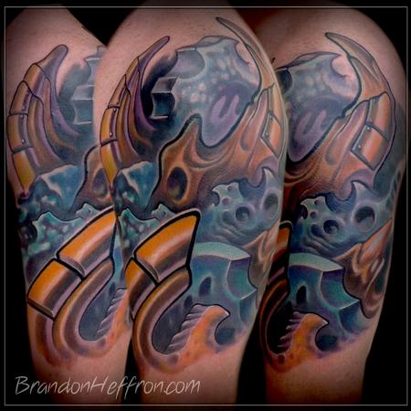 Tattoos - Bio Mech Piece - 78470