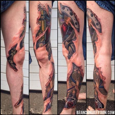 Tattoos - Bio Mech Leg - 107834