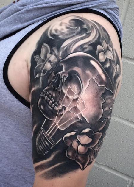 Tattoos - Lightbulb Skull - 107836