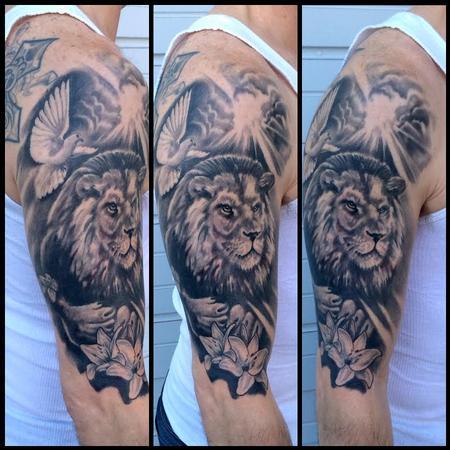 Tattoos - Lion half sleeve - 100961