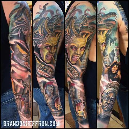 Tattoos - Medusa Sleeve - 111936
