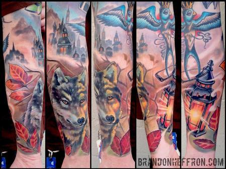 Tattoos - Wolf & Lantern - 107953