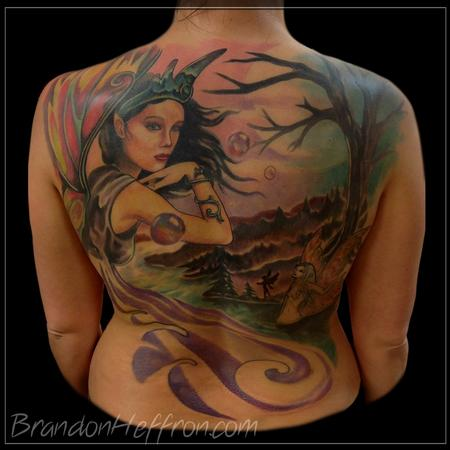 Tattoos - Fairy Back Piece - 79237