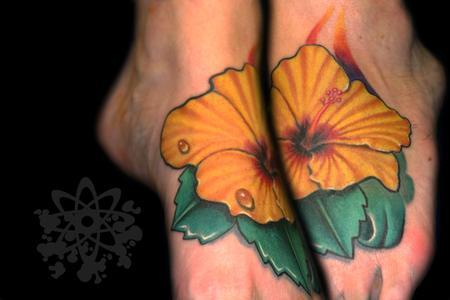 Tattoos - hibiscus flower - 63932