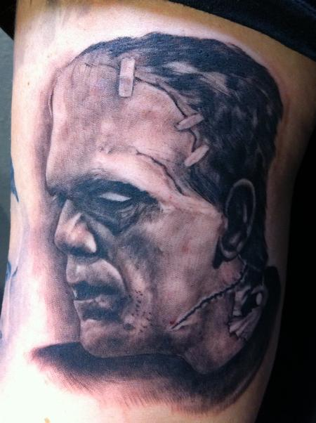 Wade Rogers - Frankenstein Portrait Tattoo