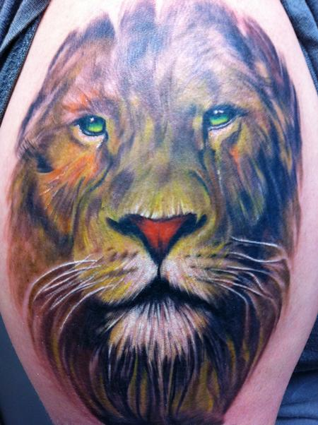 Wade Rogers - Lion Portrait Tattoo