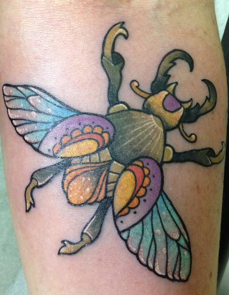 Tattoos - flying beetle - 87208