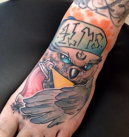 Tattoos - grafiti owl - 104201