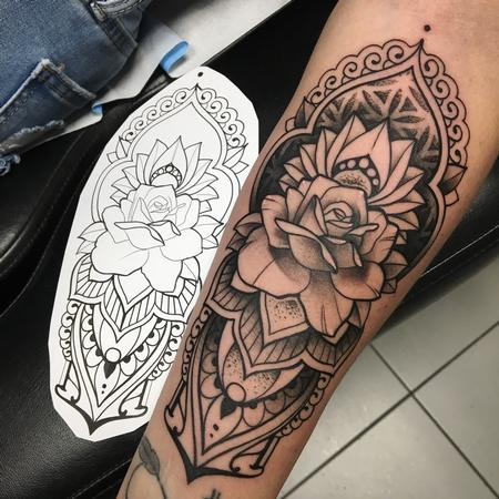 Tattoos - Ornemental rose - 137864