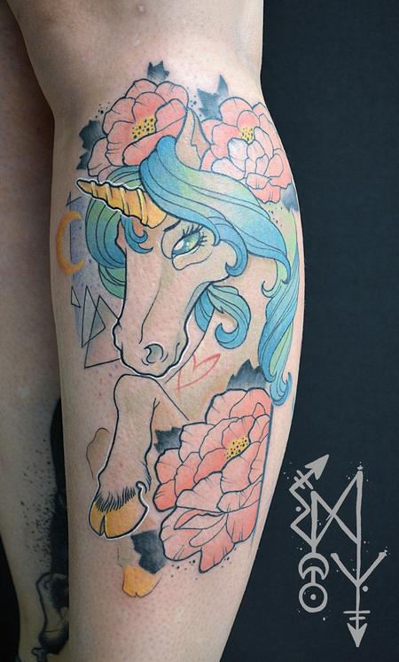 Tattoos - Girly unicorn - 109961