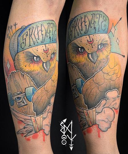 Tattoos - Owl trasher - 112276