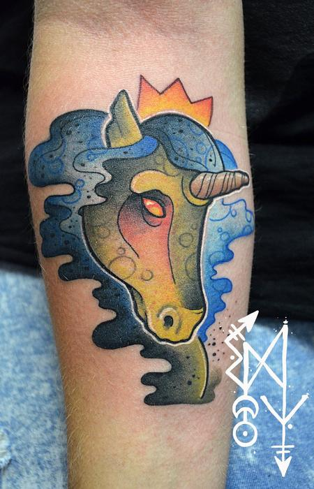 Tattoos - Zombi unicorn - 108609