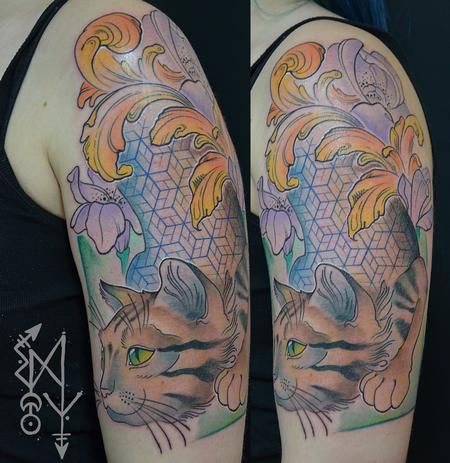 Tattoos - Crazy cat - 115055