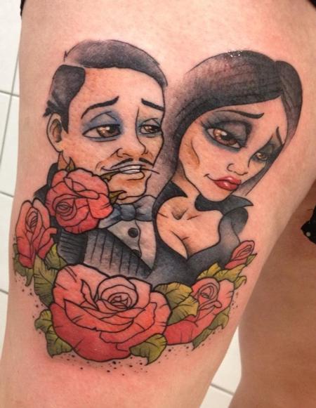 Tattoos - Morticia And gomez adams - 91737