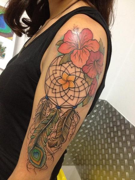 Tattoos - Hawaiian dreamcatcher - 93279