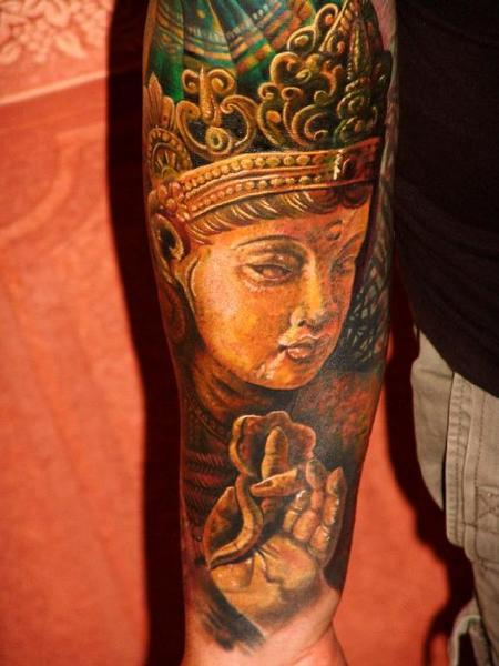 Tattoos - Gods Sleeve tattoo detail - 61248