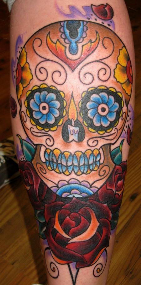 Tattoos - Traditional Sugar Skull - 70177