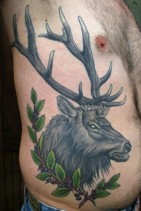 Tattoos - Elk and wild huckleberries  - 132373
