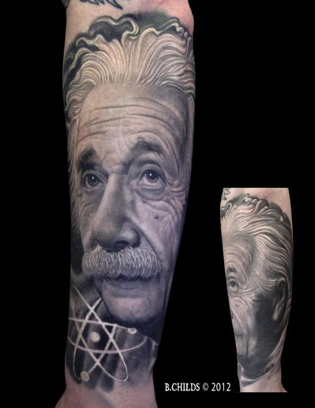 Tattoos - Einstein Portrait - 132421
