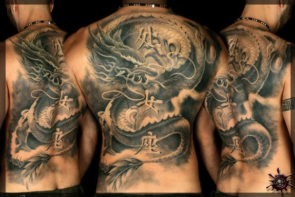 Tattoos - Dragon with Lightning Bolt - 50972