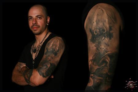 Tattoos - Salvatore Magro - Frank Frazetta & Chet Zar Tribute Sleeve - 58462