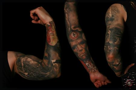 Tattoos - Mixed views, Chet Zars 5 and his logo , Frazetta signature - 58478