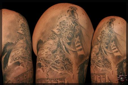 Tattoos - Gladiator with his lucky number XIII. [Argento] - 58753