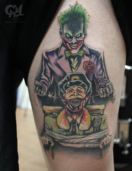 Tattoos - Joker Cartoon Tattoo  - 123479