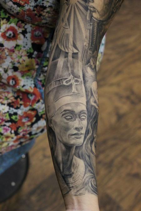 Tattoos - Nefertiti Egyptian Queen Tattoo - 117130