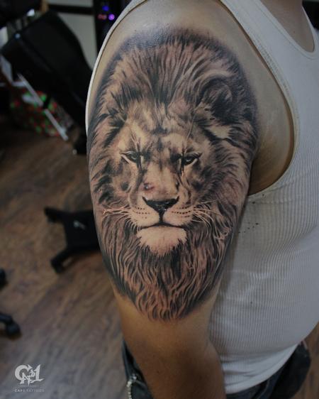 Tattoos - Realistic Lion Tattoo - 130064