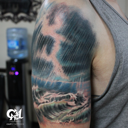 Tattoos - Ocean Storm Tattoo - 126945