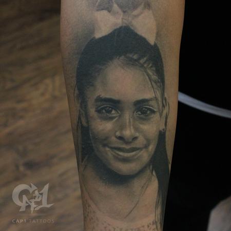 Tattoos - Photorealistic Girl Portrait  - 122902