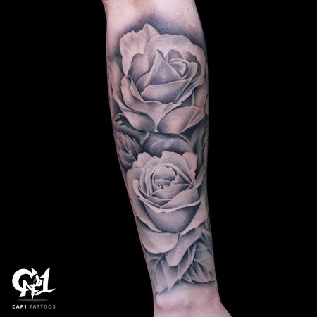 Tattoos - Rose Tattoo Sleeve - 126642