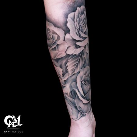 Tattoos - Rose Tattoo Sleeve - 126643