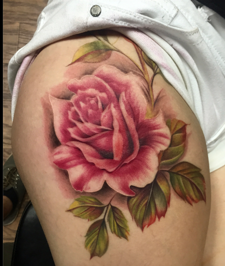 Tattoos - Vintage Rose Tattoo - 114684