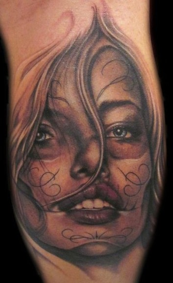 Tattoos - Day of the Dead Girl Tattoo - 52950