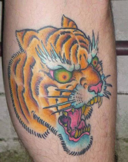 Tattoos - tiger head tattoo - 77501