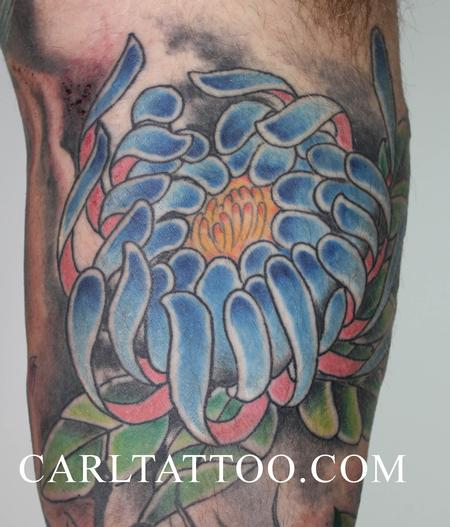 Tattoos - chrysanthemum tattoo by carl sebastian - 86639