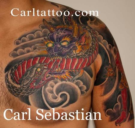 Tattoos - chest plate by carl sebastian  - 77872