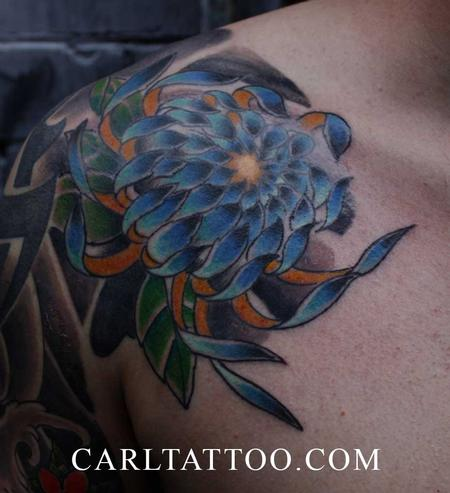 Tattoos - chrysantemum tattoo by carl - 79706