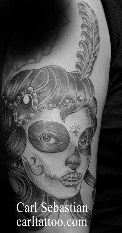 Tattoos - day of the dead girl - 77715