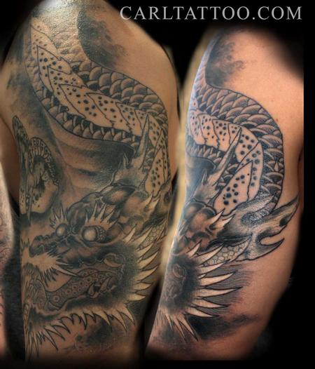 Tattoos - Japanese dragon - 80020