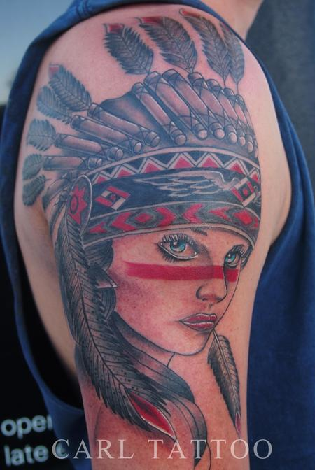 Carl Sebastian - Native americangirltattoo