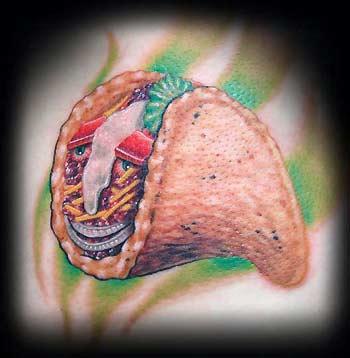 Tattoos - Taco Face - 32112
