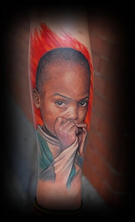 Carlos Lopez - Start of a sleeve about racism and discrimination.