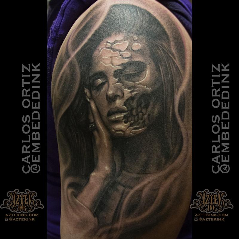 Lana Del Rey Skull By Carlos Ortiz Tattoonow