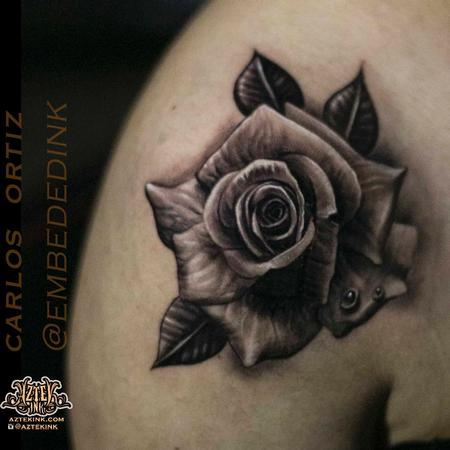 Carlos Ortiz - rose tattoo by Carlos ortiz chicago