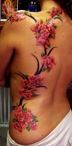 Tattoos - flower vine - 50263