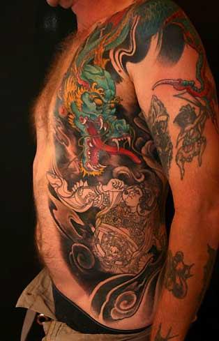 Tattoos - Dragon - Warrior - 31852